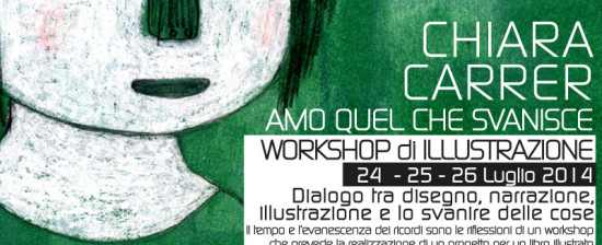 """Workshop di illustrazione """"Amo quel che svanisce"""""""