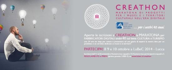 CREATHON: maratona per l'innovazione e creatività tra cultura e turismo
