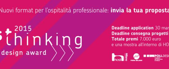 Concorso Hosthinking: Design Award per i format dell'ospitalità