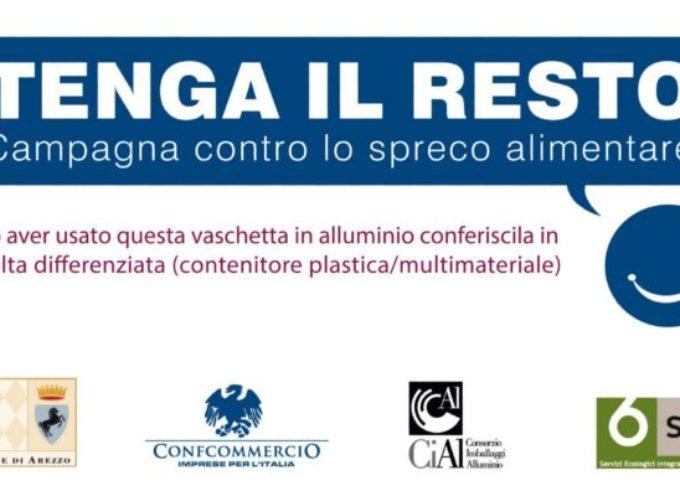 """""""Tenga il resto"""", arriva anche ad Arezzo la campagna contro lo spreco alimentare"""