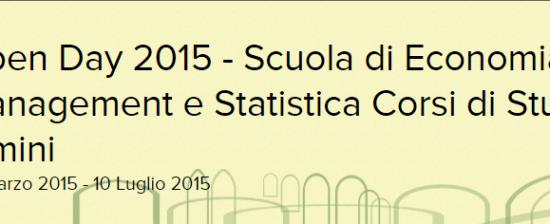 Open Day per la Scuola di Economia, Management e Statistica di Rimini