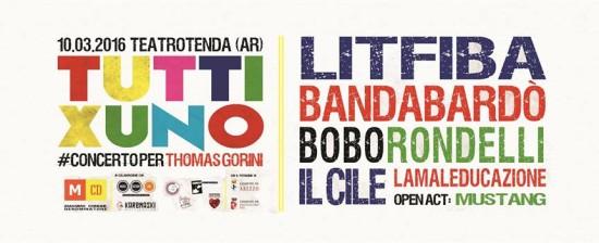 TUTTIXUNO, Concerto-evento per Thomas Gorini