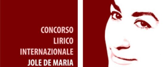 """Concorso Lirico Internazionale """"Jole de Maria"""""""