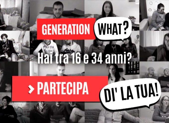 """""""Generation What?"""": sondaggio RAI sui giovani Millennials"""