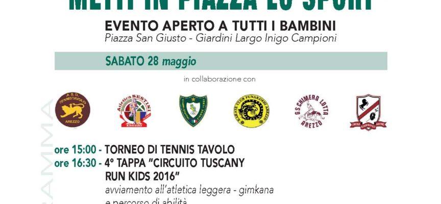 """Quartiere di Porta Sant'Andrea: """"Metti in Piazza lo Sport"""" nona edizione"""