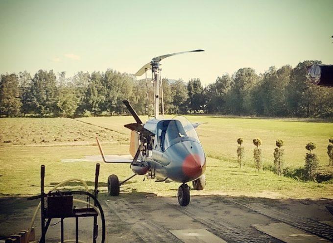 Radgyro, l'elicottero laboratorio volante per indagini spettrometriche realizzato da Geoexplorer spin off dell'Università di Siena, nato nel centro di Geotecnologie di San Giovanni Valdarno