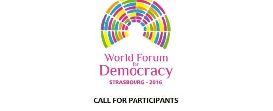Partecipa al Forum Mondiale per la Democrazia di Strasburgo 7-9 novembre