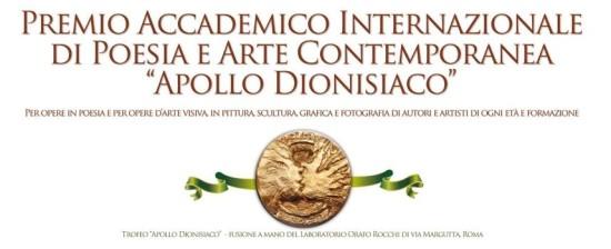 """Premio Accademico Internazionale di Poesia e Arte Contemporanea """"Apollo Dionisiaco"""""""