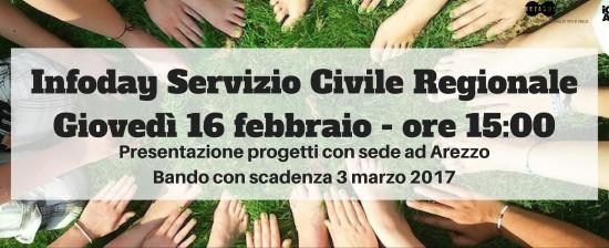 InfoDay bando Servizio Civile Regionale (2°bando): vi aspettiamo giovedì 16 febbraio @InformaGiovani!