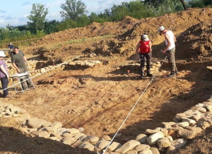 Campo di scavo archeologico nei pressi di Bibbiena