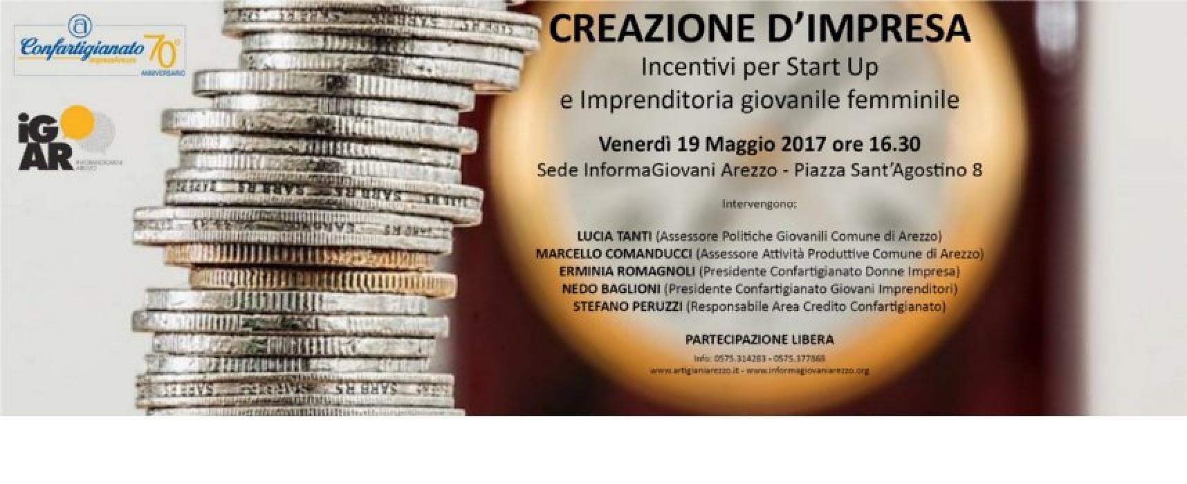 """Venerdì 19 maggio @InformaGiovani: Seminario su """"Creazione d'impresa, nuove misure della Regione Toscana"""""""