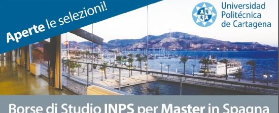 Borse INPS per master e Corsi all'Università Politecnica di Cartagena – Spagna