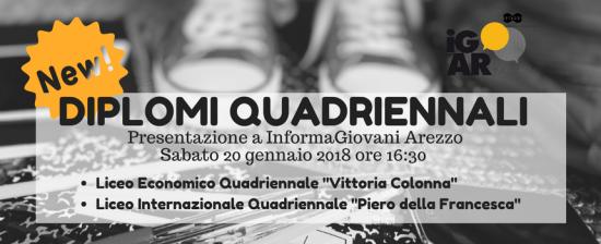 Diploma in 4 anni: approvate due sperimentazioni anche ad Arezzo. Presentazione SABATO 20 GENNAIO 2018 ore 16:30 presso InformaGiovani di Arezzo