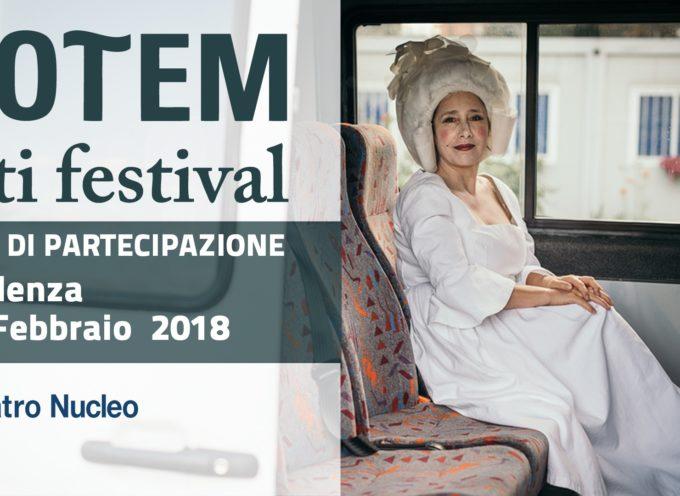 Totem Arti Festival 2018: cll per artisti e compagnie teatrali