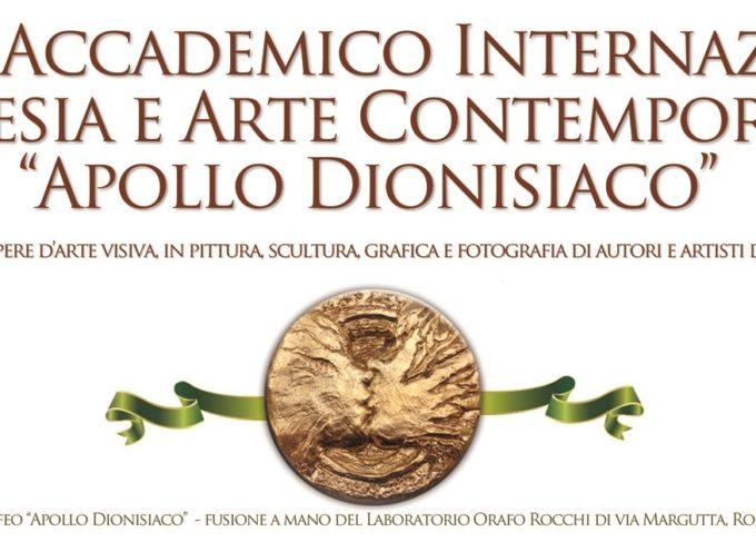 Premio Internazionale di Poesia e Arte Contemporanea Apollo dionisiaco 2018