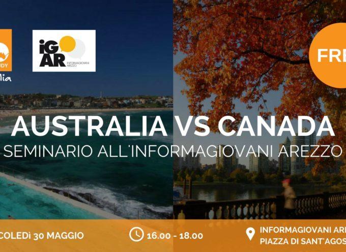 AUSTRALIA VS CANADA: quale sarà la tua destinazione?