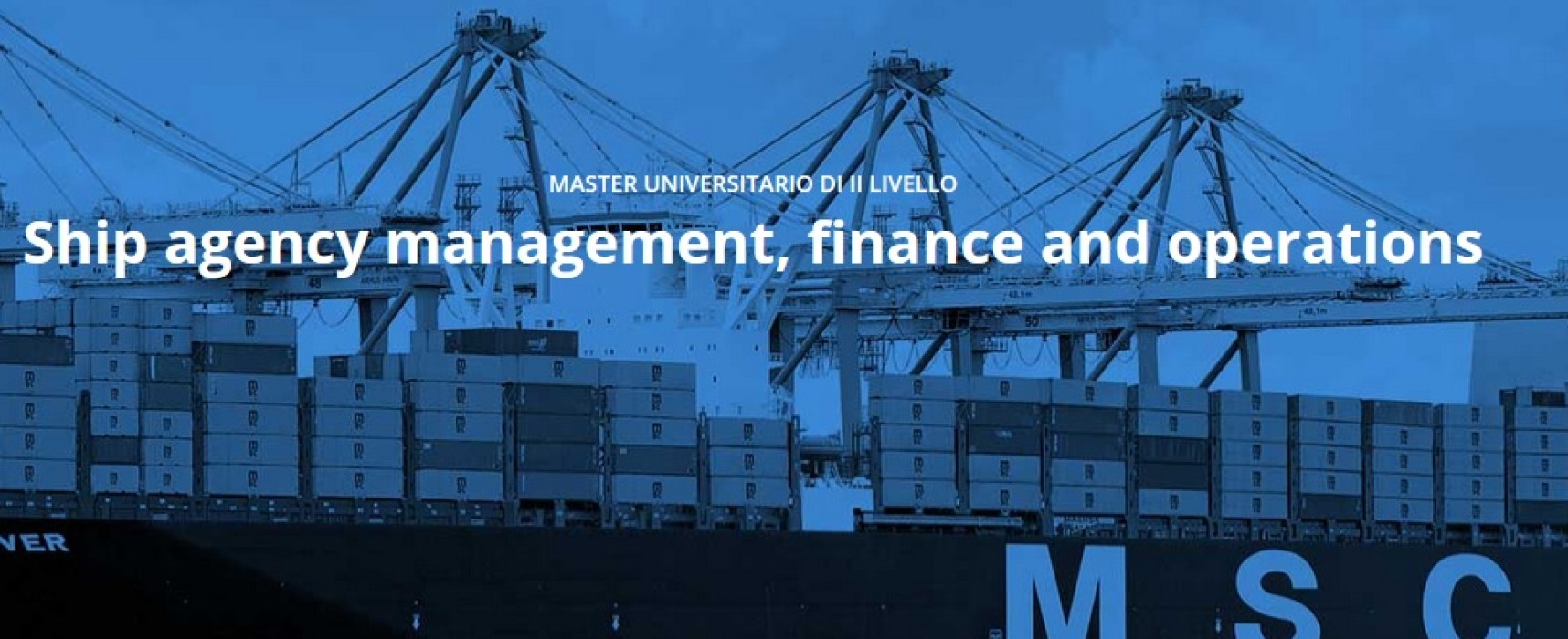 "Master universitario gratuito di II livello in ""Ship agency management, finance and operations"" a Genova"