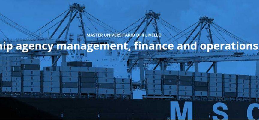 """Master universitario gratuito di II livello in """"Ship agency management, finance and operations"""" a Genova"""