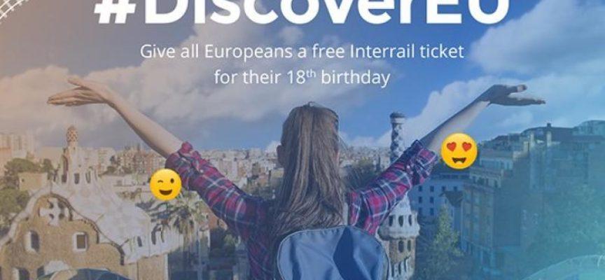 DiscoverEU: nuova iniziativa dell'UE per sostenere 15.000 giovani di 18 anni che viaggeranno in Europa