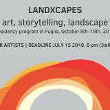 LandXcapes:  programma di residenze artistiche in Puglia