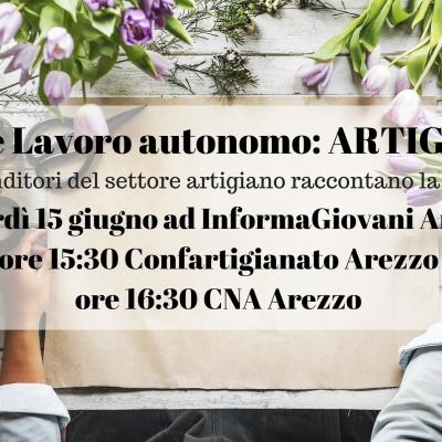 Giovani e Lavoro Autonomo:  ARTIGIANATO ad InformaGiovani Arezzo