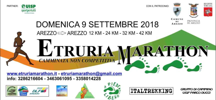 Etruria Marathon 2018: domenica 9 settembre 2018