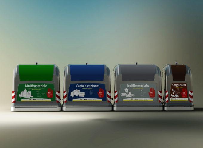 Una zona della città farà da apripista: 4 cassonetti di colore diverso per una rivoluzione del conferimento dei rifiuti