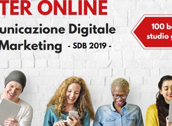MASTER ONLINE In Comunicazione Digitale e Web Marketing  – SDB 2019