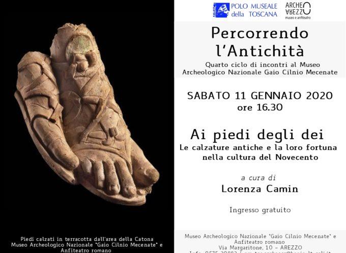 """Percorrendo l'antichità""""Ai piedi degli dei – le calzature antiche e la loro fortuna nella cultura del novecento"""". Incontro con l'archeologa Lorenza Camin"""