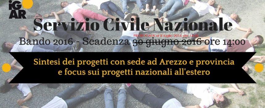 Servizio Civile Nazionale 2016: Progetti ad Arezzo e provincia