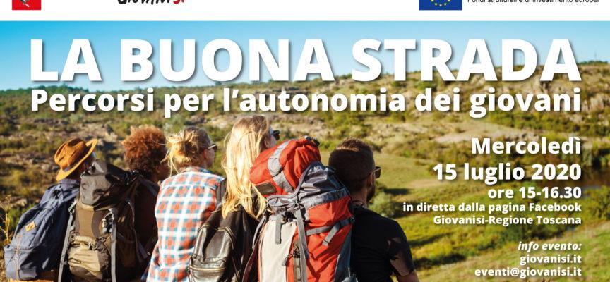"""Giovanisì: """"La buona strada. Percorsi per l'autonomia dei giovani"""": il 15/7 evento in diretta Facebook"""