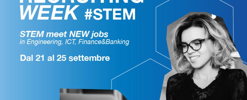 Digital Recruit Week per laureati e laureanti discipline tecnico-scientifiche dal 21 al 25 settembre 2020