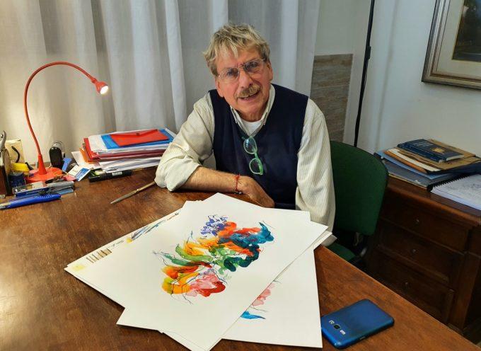 Quattro litografie dalla mano di Mauro Capitani per gli organizzatori del Premio Casentino