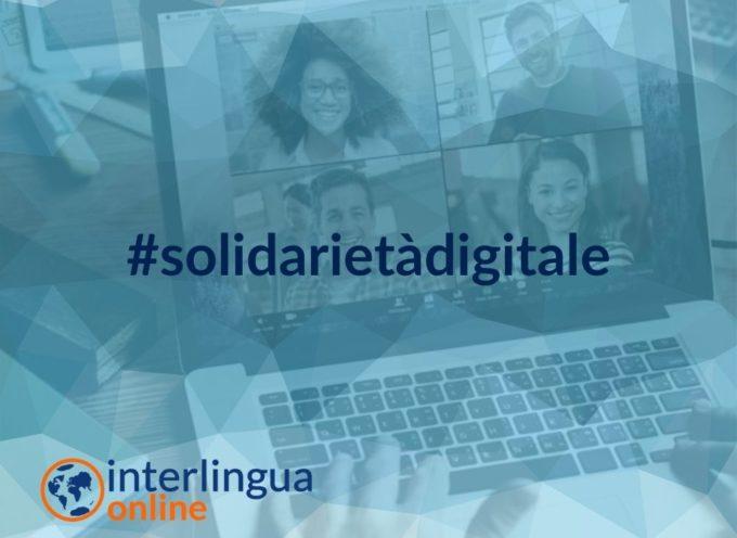 Interlingua estende l'iniziativa Solidarietà Digitale a tutto il territorio nazionale con lezioni, videolezioni e webinar gratuiti