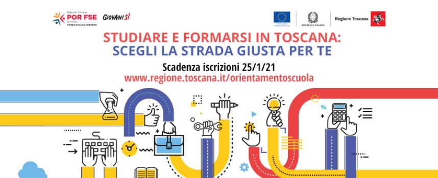 Giovanisì: studiare e formarsi in Toscana, campagna di comunicazione e informazione