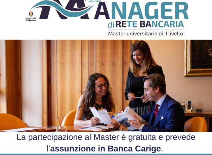 Banca Carige: Master in Manager di rete Bancaria gratuito e con assunzione in Banca per 10 under 28