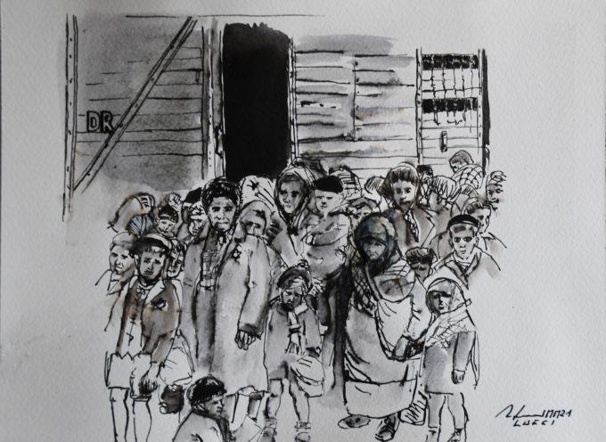 Raffaello Lucci dona un'opera alla Fondazione Museo della Shoah di Roma