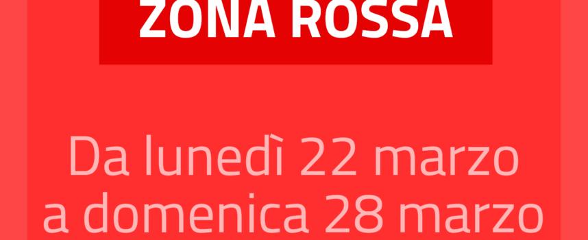 Comune di Arezzo in zona ROSSA dal 22 al 28 marzo compresi
