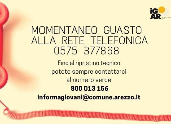 Informagiovani Arezzo: temporaneo guasto della linea telefonica 0575 377868