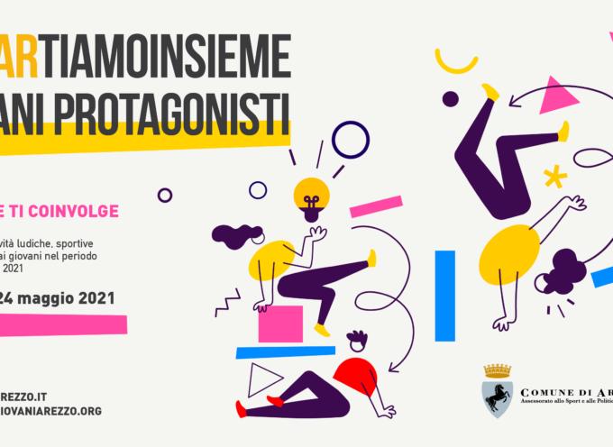 """""""#ripARtiamoinsieme – Giovani protagonisti"""" Il Comune ti coinvolge: Bando per attività ludiche, sportive e culturali rivolte ai giovani anno 2021"""