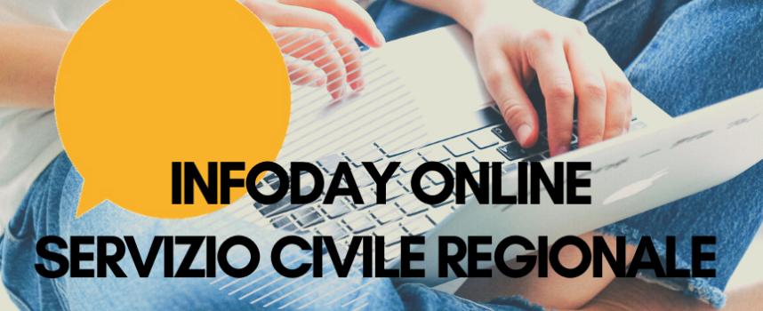 Servizio Civile Regionale 2021: partecipa ai nostri INFODAY ONLINE 12 e 14 maggio!!