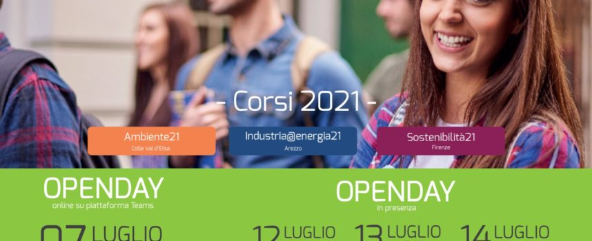 ITS Ambiente ed Energia: lunedì 12 luglio Open Day in presenza ad Arezzo!!