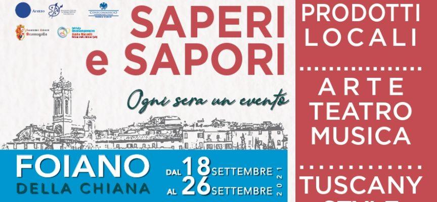 """Dal 18 al 26 settembre torna """"Saperi e Sapori. La settimana Foianese"""""""