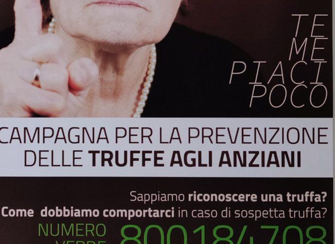 Truffe agli anziani: al via il progetto di prevenzione